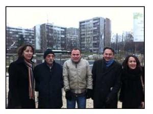 Avec Gilles Kepel (2ème à droite) dans un quartier de la Seine Saint-Denis