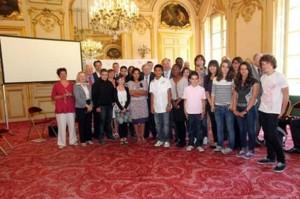 Les collégiens de Marseille, Valentigney et Reims.
